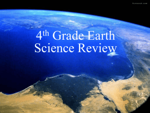 4th Grade Earth Science Review