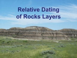 21.2: Relative Dating of Rocks