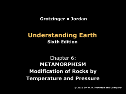 Chapter 6 - Metamorphism
