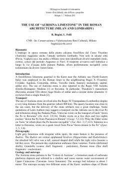 Bugini and Folli - Associazione Italiana di Archeometria