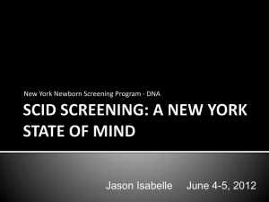 SCID Screening: A New York State of Mind