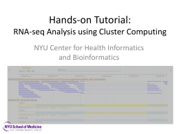 Hands-on Tutorial: RNA-seq Analysis using Cluster Computing