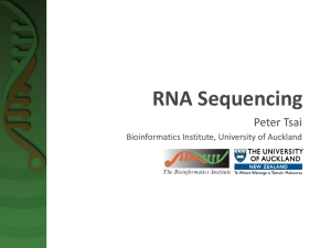 RNA Sequencing - Bioinformatics Institute