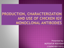 Production, Characterization and Use of IgY Chicken Monoclonal