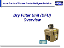 PPT: Dry Filter Unit