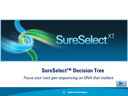 SureSelect Decission Tree