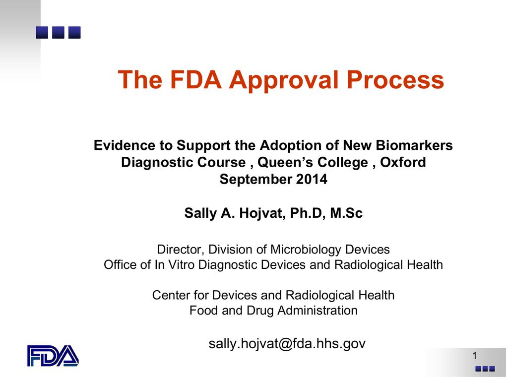 The FDA Approval Process - NIHR-DEC