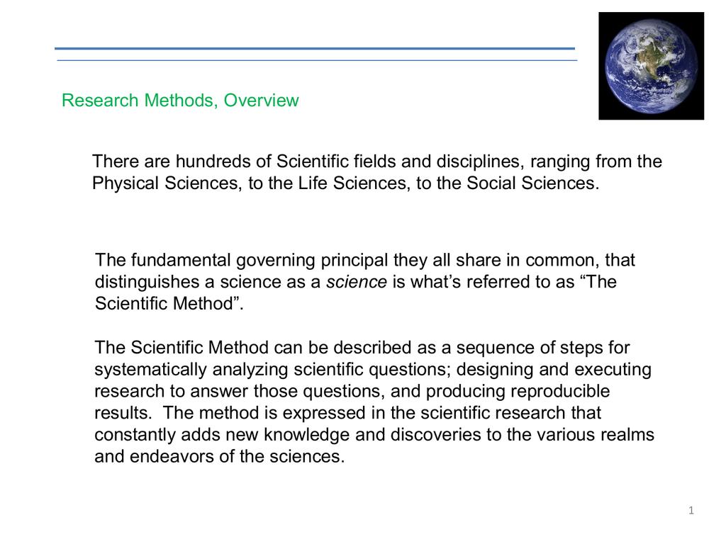 scientific method in social research