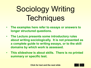 PPT Writing Sociologically