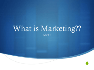 What is Marketing??