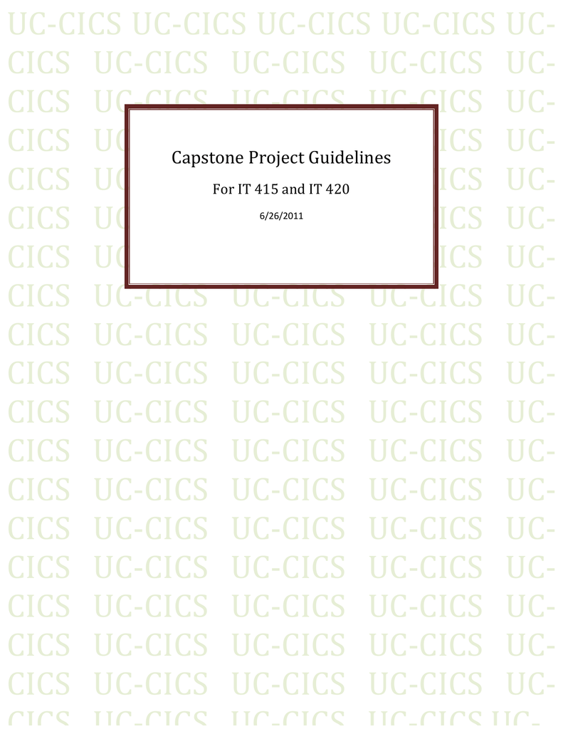 capstone project guidelines ched