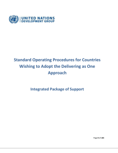Draft SOPs Integrated Package of Support