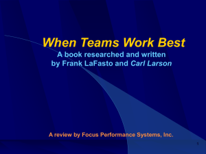 When Teams Work Best - Focus Performance Systems