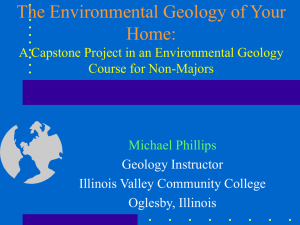 The Environmental Geology of Your Home: A Capstone Project in an