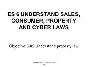 6.02 Notes-Property Law - chriswilliams
