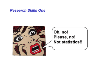 Basic grounding in research skills - designing