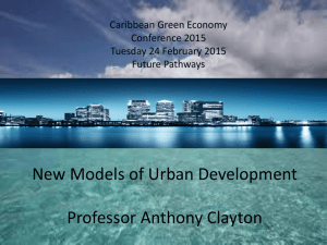New Models of Urban Development