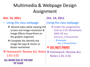Multimedia & Webpage Design Assignment - Stacie Dobson