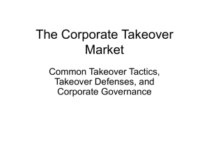 Common Takeover Tactics and Defenses