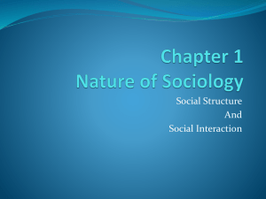 Chapter 1 Nature of Sociology
