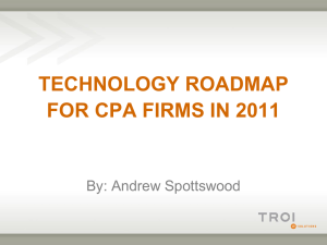 technology roadmap for cpa firms in 2011