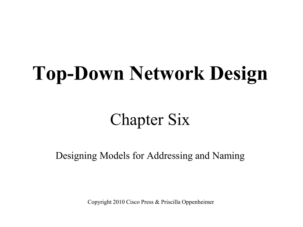 Designing Models for Addressing and Naming - Top
