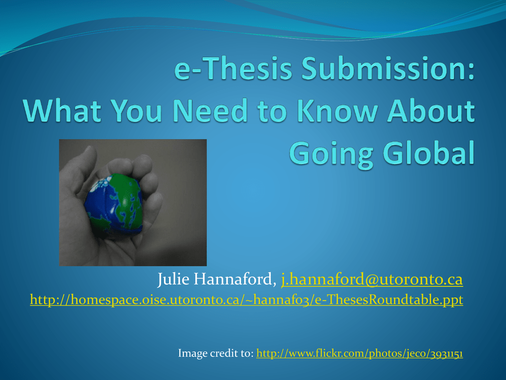 sgs thesis submission utoronto