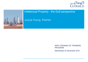 Intellectual Property - the Gulf perspective