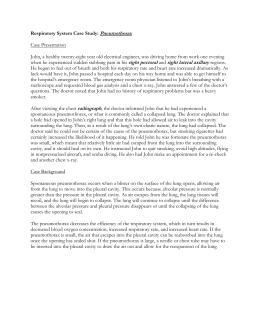Case Study: Pneumothorax