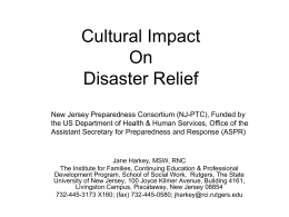 Cultural Impact On Disaster Relief
