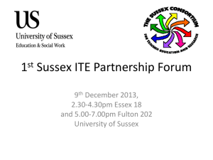 Partnership Forum - University of Sussex