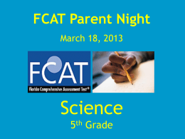FCAT Parent Night - Pembroke Pines Charter Schools > Home