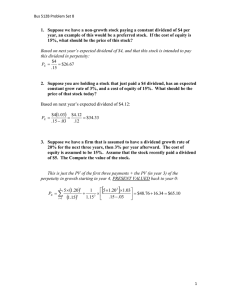 Problem Set 8 Solutions BUS 512B