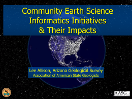 Community earth science informatics initiatives & their impact