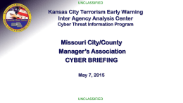Combating Cyber Threats - Missouri City Management Association