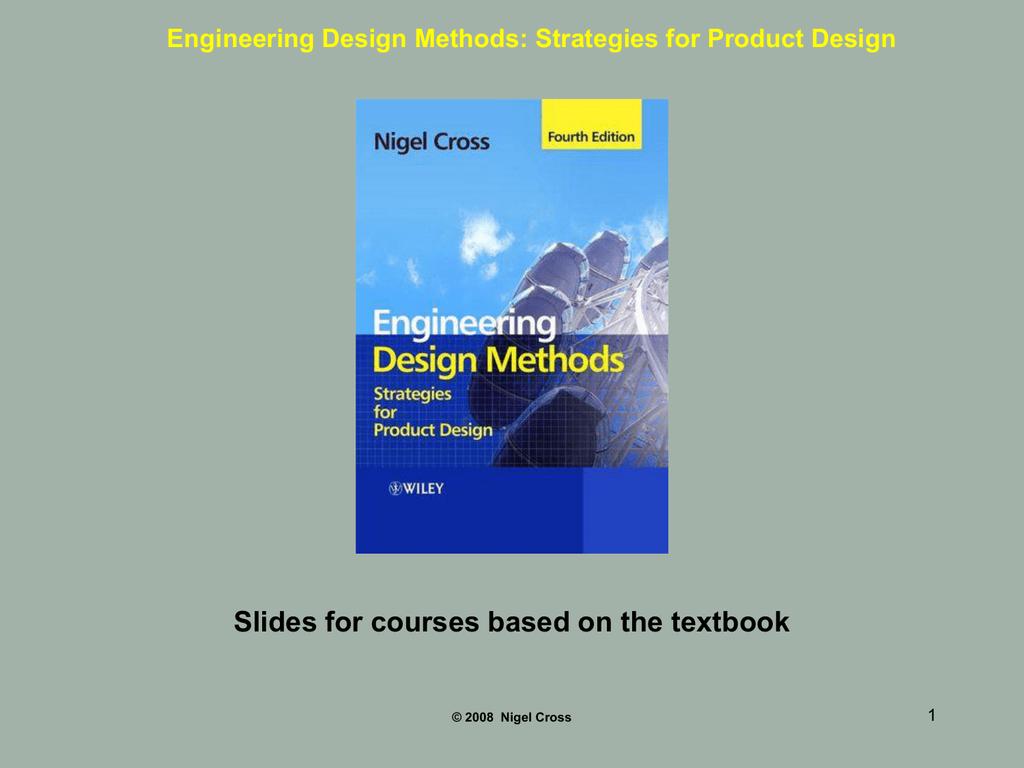 Engineering Design Methods powerpoint