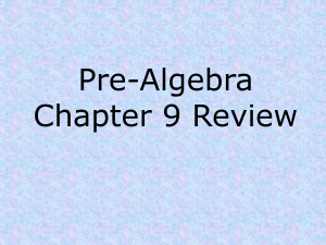 Chapter 12: Data Presentation Review