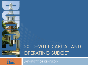 2010-2011 Operating and Capital Budget Presentation