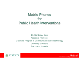 Mobile Phones for Public Health and Safety