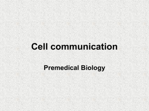 Cell communication Premedical Biology
