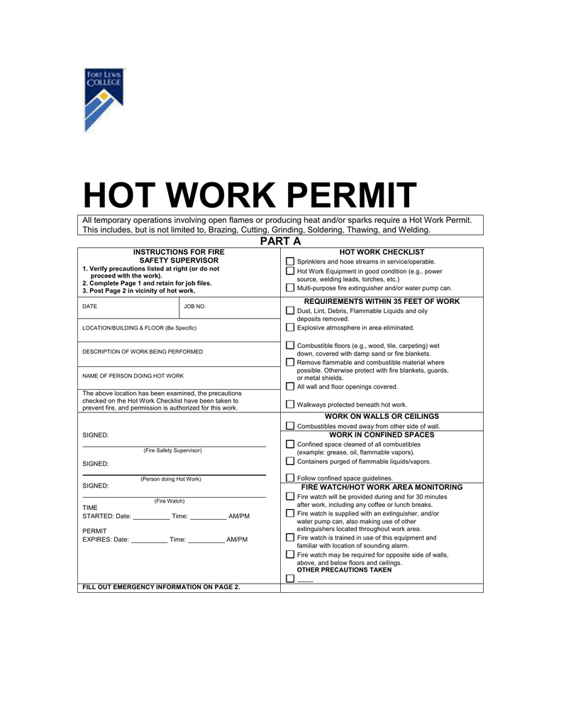 hot work permit template choice image template design ideas