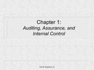 CIS-496 / I.S. Auditing