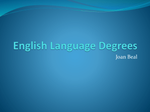 English Language Degrees - LLAS Centre for Languages