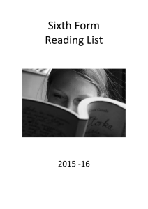 Click here for Sixth Form Reading List