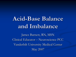 Oxygenation and Acid-Base Balance - Vanderbilt University Medical