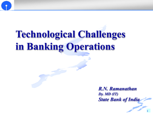 Technological Challenges in Banking Operations RN Ramanathan