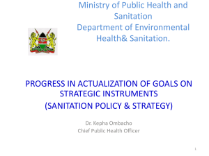Ministry of Public Health and Sanitation Department - SWAP-bfz