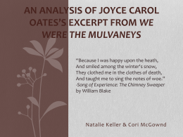 An Analysis of Joyce Carol Oates*s excerpt from We