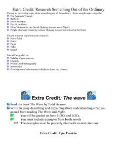 Extra Credit: The wave