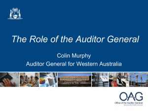 The Role of the Auditor General